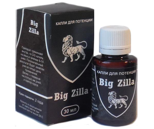 Big Zilla капли для потенции цена